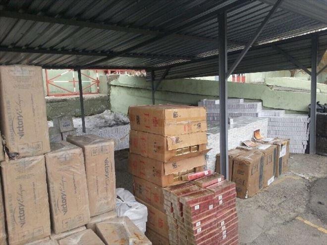 Aşkale'de 12 Bin 290 Paket Kaçak Sigara Ele Geçirildi