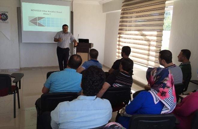 Kurtalan'da KOSGEB Uygulamalı Girişimcilik Eğitimi Başladı