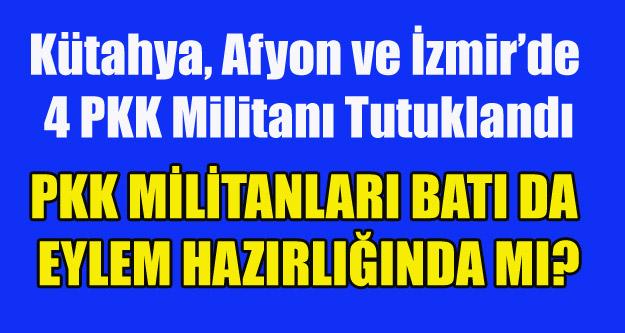 EGE'DE 2 GÜNDE 4 PKK'LI TUTUKLANDI