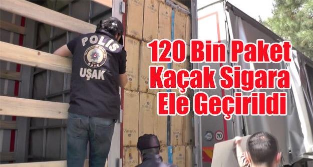 Uşak'ta 120 Bin Adet Kaçak Sigara Ele Geçirildi