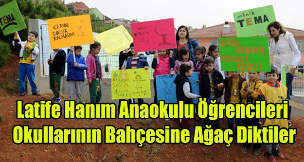 Latife Hanım Anaokulu öğrencileri Ağaç Dikti