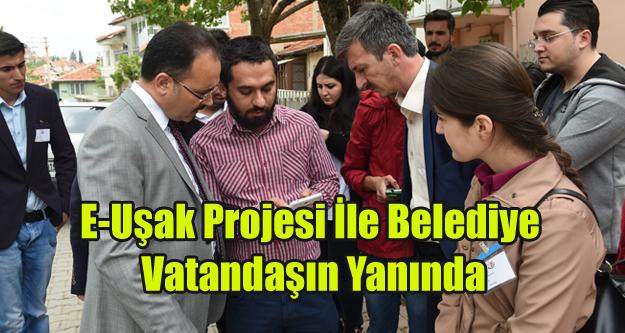 """Cahan, 'E-Uşak Projesiyle Hemşehrilerimizin Yanındayız"""""""