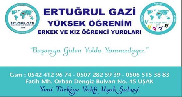 Yeni Türkiye Vakfı Uşakta Ertuğrul Gazi Yüksek Öğrenim Erkek Ve Kız Öğrenci Yurdunu Açtı