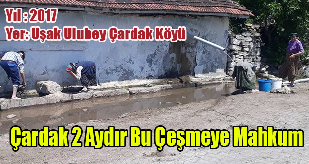 ULUBEY'İN ÇARDAK KÖYÜ İKİ AYDIR SUSUZ KALDI