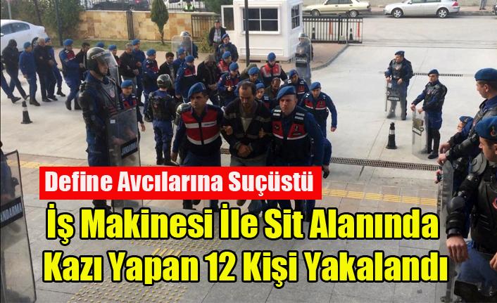 UŞAK'TA 12 DEFİNE AVCISI SUÇÜSTÜ YAKALANDI