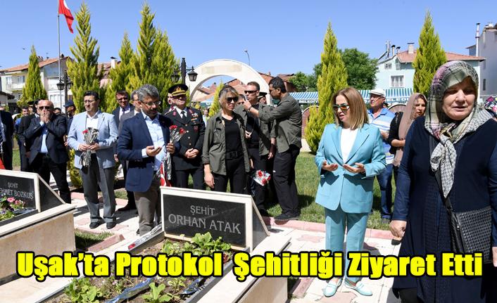 UŞAK'TA PROTOKOL ŞEHİTLİĞİ ZİYARET ETTİ
