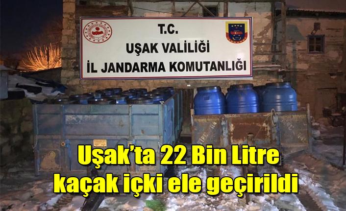 Uşak'ta 22 Bin Litre Kaçak İçki Ele Geçirildi