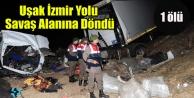 Uşak#039;ta trafik kazası: 1 ölü, 1 yaralı