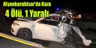 Afyonkarahisar#039;da trafik kazası: 4 ölü, 1 yaralı