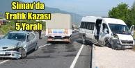 SİMAV#039;DA TRAFİK KAZASI 5 YARALI