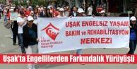 Uşak#039;ta Engellilerden Farkındalık Yürüyüşü