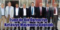 Eşme Belediyesi ve AK Partinin Katkıları ile  Bin Öğrenciye Kırtasiye Malzemesi Dağıtıldı