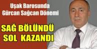 UŞAK BAROSUNDA SAĞ BÖLÜNDÜ  SOL#039;UN ADAYI KAZANDI