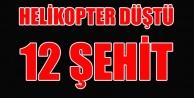 TUNCELİ#039;DE HELİKOPTER DÜŞTÜ 12 ŞEHİT