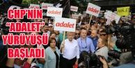 CHP LİDERİ KILIÇDAROĞLU#039;NUN ADALET YÜRÜYÜŞÜ BAŞLADI