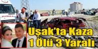 UŞAK#039;TA TRAFİK KAZASI 1 ÖLÜ 3 YARALI