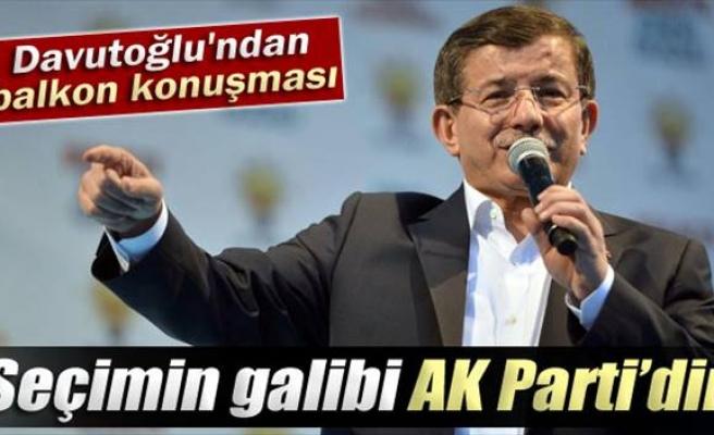 Davutoğlu: AK Parti bu seçimin galibidir