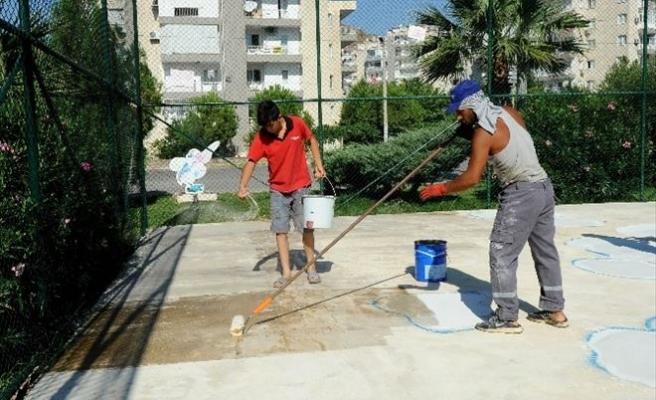Karşıyaka'da Basketbol Sahaları Sil Baştan