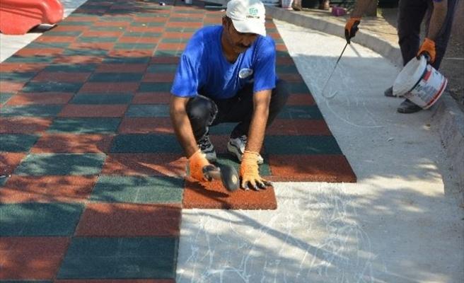 Ceylanpınar Belediyesi'nden Park Çalışmaları