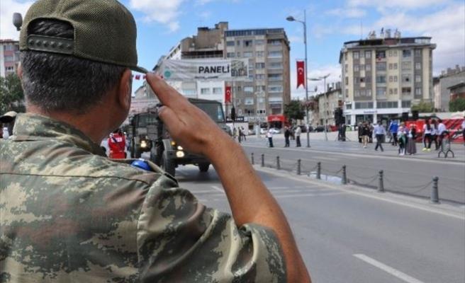 Sivas'ta 30 Ağustos Zafer Bayramının Provası