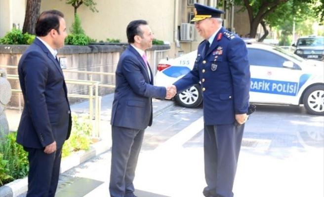 Hava Kuvvetleri Komutanı Ünal, Vali Aksoy'u Ziyaret Etti