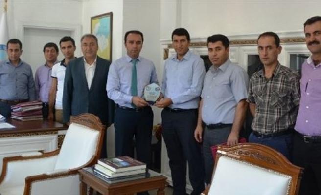 Eğitim-bir-sen'den Kaymakam Erkan'a Ziyaret