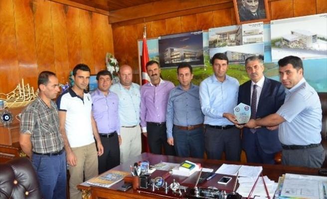 Eğitim-bir-sen'den Başkan Aksoy'a Ziyaret
