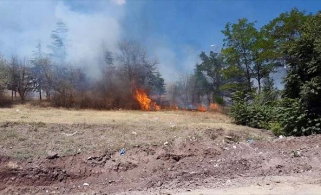 Polatlı'da Parkta Yangın