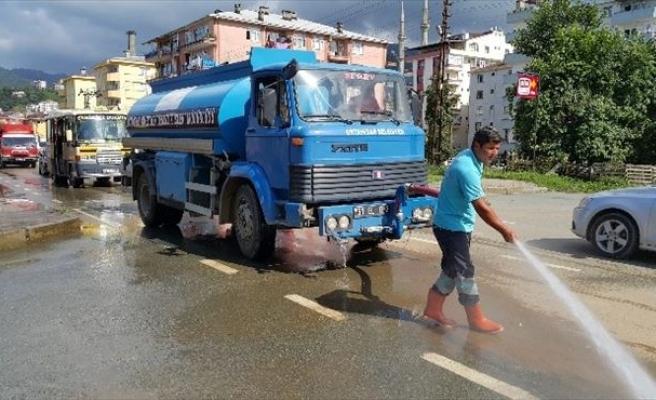 Ortahisar Belediyesinden Hopa'ya Yardım Eli