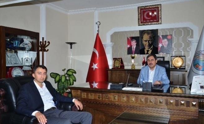 Kaymakam Türk'ten Başkan Eser'e İade-i Ziyaret