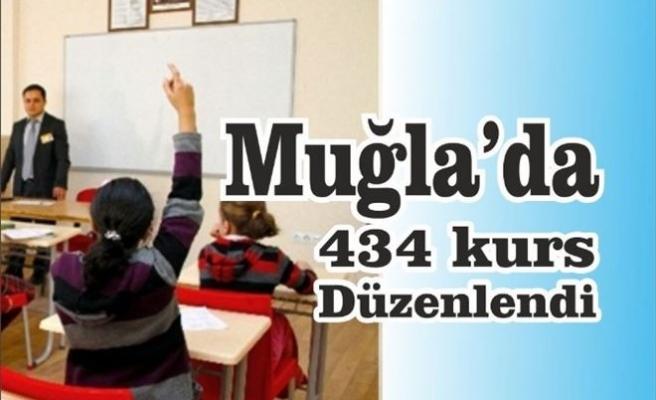 Muğla'da 434 Kurs Düzenlendi