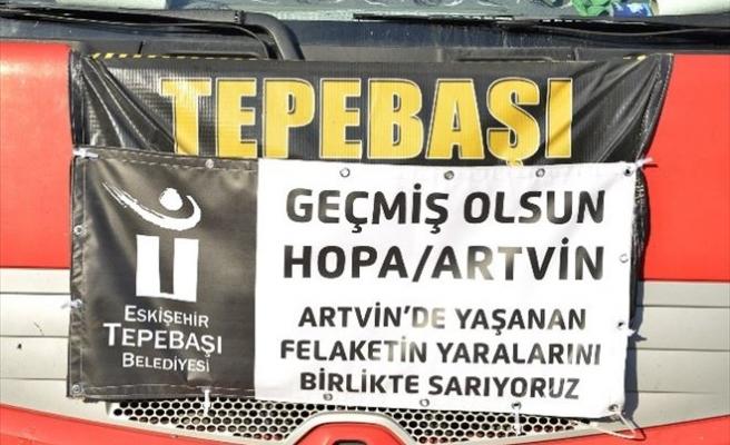 Eskişehir'den Sel Mağduru Artvin'e Yardım Eli