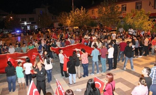 Manyas'ta Terörü Protesto Yürüyüşü