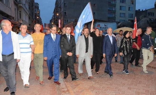 Sinop'ta Ülkü Ocaklarından Teröre Tepki Yürüyüşü