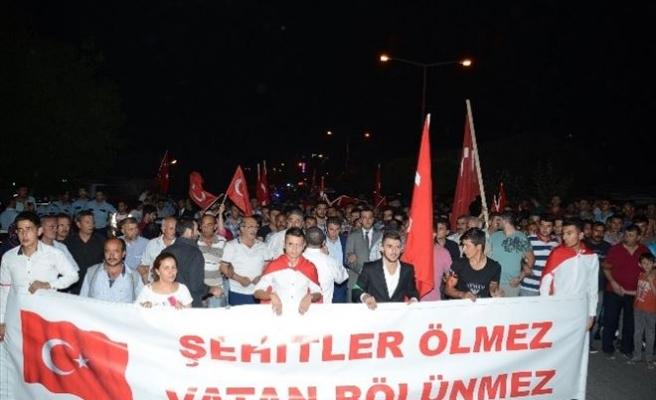 Darende'de Şehide Saygı Teröre Lanet Yürüyüşü Yapıldı