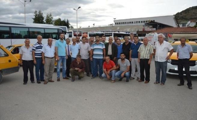 Niksar'da Taksicilerden Terör Protestosu