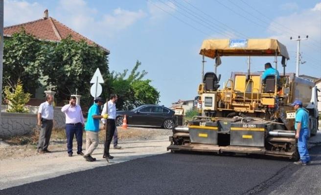 Başiskele Galip Erenoğlu Caddesi Asfaltlanıyor