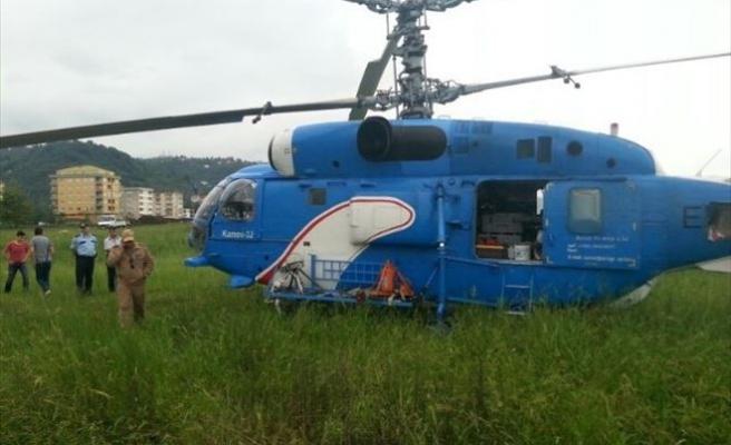 Yunanistan'dan Kalkan Askeri Helikopter Giresun'a Zorunlu İniş Yaptı