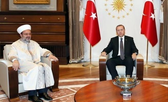 Cumhurbaşkanı Erdoğan, Diyanet İşleri Başkanı Görmez'i Kabul Etti