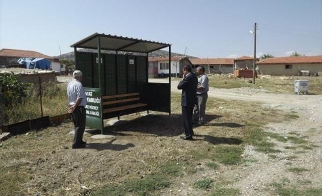 Bayat Kaymakamlığı Köylere Otobüs Durağı Yaptırdı