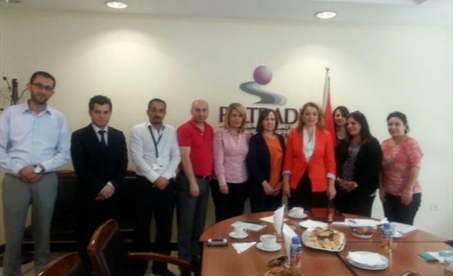 Atasoy Filistin'de Paltrade Ticaret Merkezini Ziyaret Etti