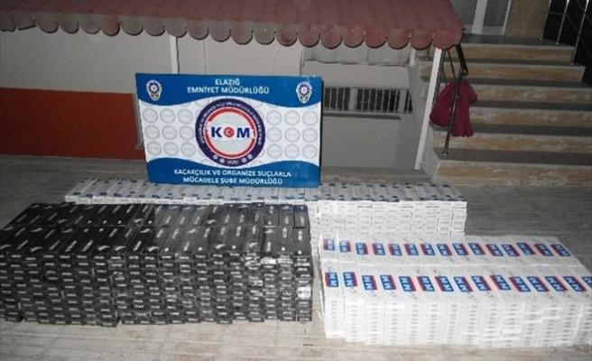 Elazığ'da Gümrük Kaçağı 11 Bin 690 Paket Sigara Ele Geçirildi