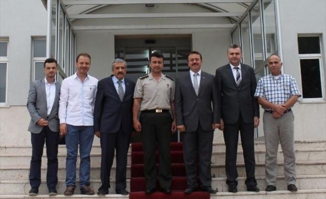 MÜSİAD Düzce Yönetim Kurulundan Albay Güvenir'e Ziyaret