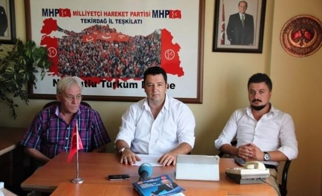 MHP Süleymanpaşa İlçe Teşkilatından Basın Açıklaması