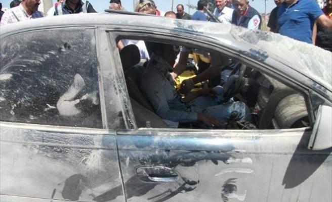 Ehliyetsiz Sürücünün Kullandığı Araç Takla Attı