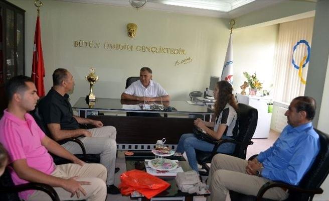 Şampiyon Sporcu İl Müdürü Bağcı'yı Ziyaret Etti