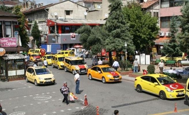 Devrekli Taksicilerden Teröre Tepki Konvoyu