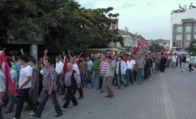 Beyşehir'de Terör Olayları Yürüyüşlerle Lanetlendi