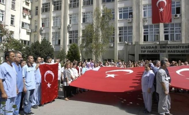 Uludağ Üniversitesi Çalışanlarından Şehitlere Fatiha
