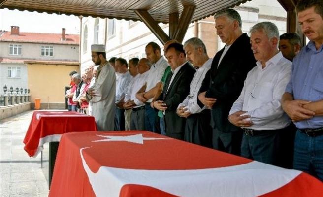 Gümüşhane'de Şehitler İçin Gıyabi Cenaze Namazı Kılındı, Dua Edildi